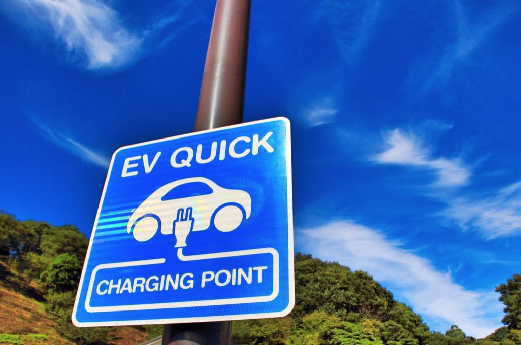 電気自動車の充電ポイント