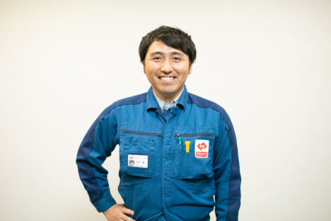 笑顔の東京電力社員